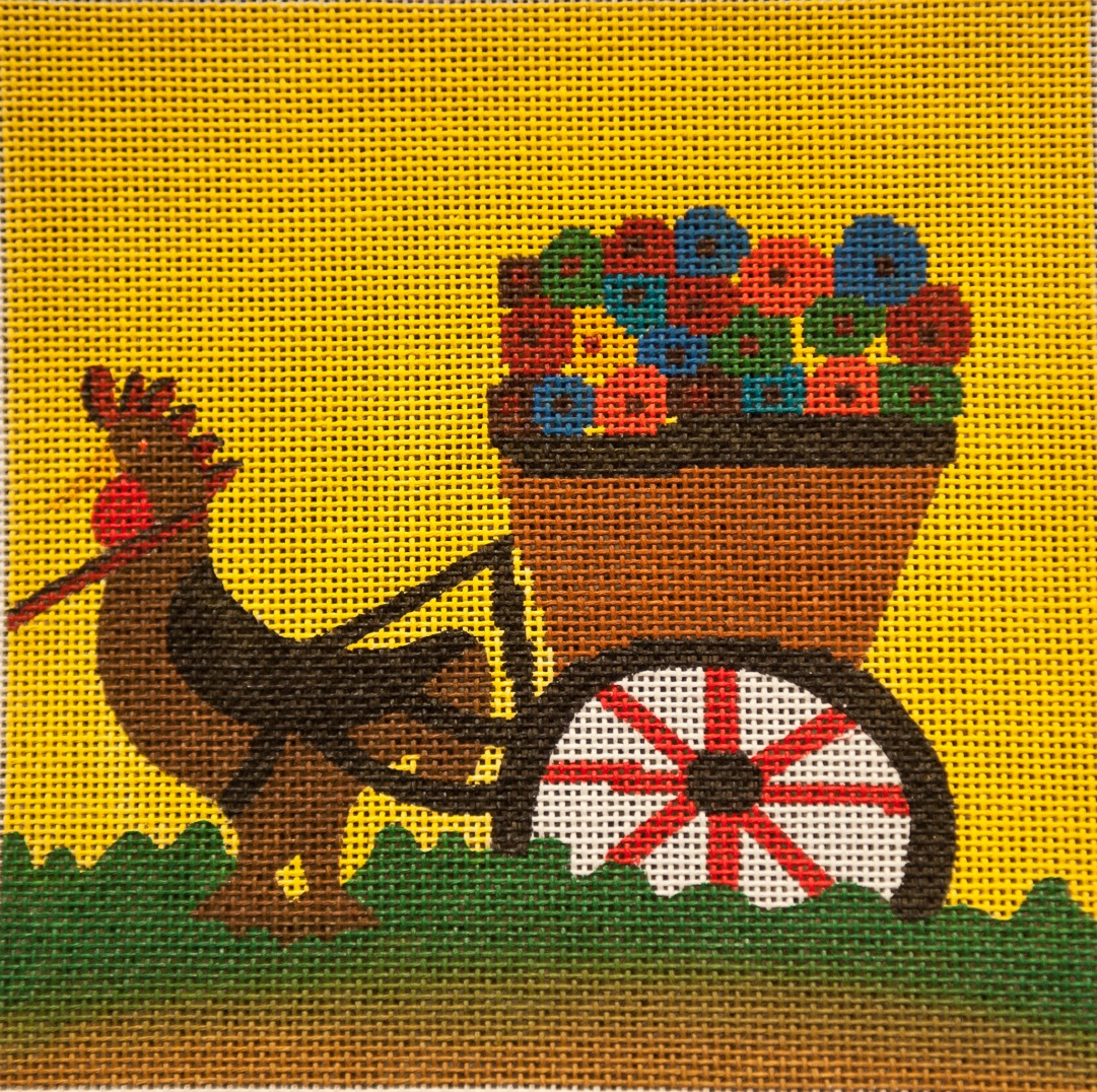 Chicken Hauling Flowers (small)