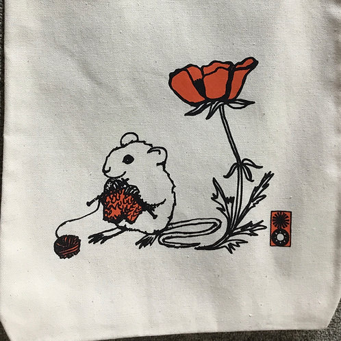 Knitting Mouse Project Bag