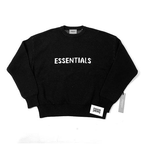ESSENTIALS X FEAR OF GOD Knitted Jumper 'Black'