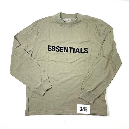 ESSENTIALS X FEAR OF GOD Long Sleeve T-shirt 'Moss'