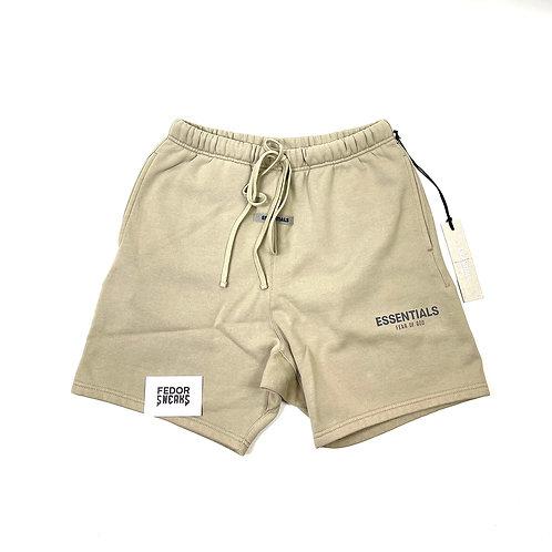 ESSENTIALS X FEAR OF GOD Sweat Shorts 'Tan'