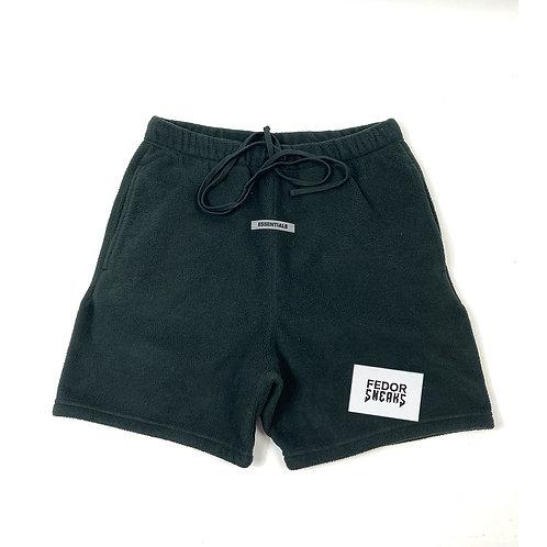 ESSENTIALS X FEAR OF GOD Fleece Shorts 'Black'