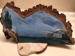 Mountain View (acrylic on wood)