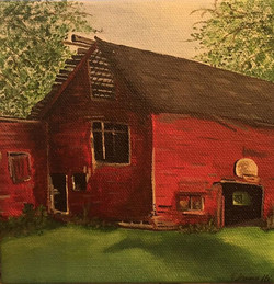 Hiles Family Barn_Commission_acrylic