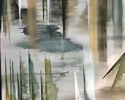The Pond - acrylic on canvas 20x24