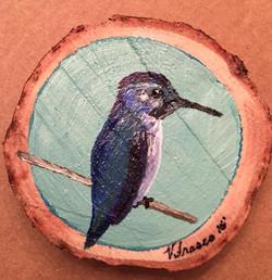 Hummingbird _(On wood)