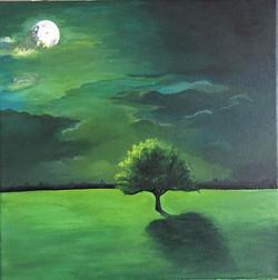 _Moonlight Serenity__acrylic