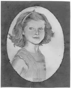 Drawn many, many moons ago of my mother when she was a child