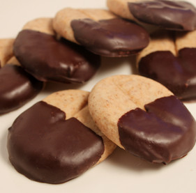 Chocolate Dipped Cappuccino Shortbread