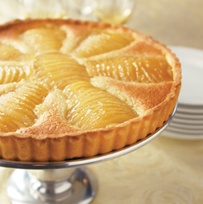 Poached Almond Pear Tart