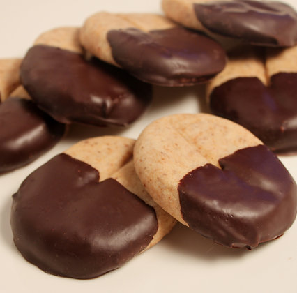 Chocolate Dipped Cappuccino Shortbread Cookie