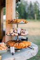 Coffee Hour at Megan & Noah's wedding at North Fork Farms  Photo by Shaunae Teske