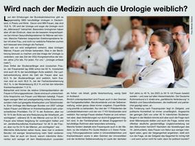 Wird nach der Medizin auch die Urologie weiblich?