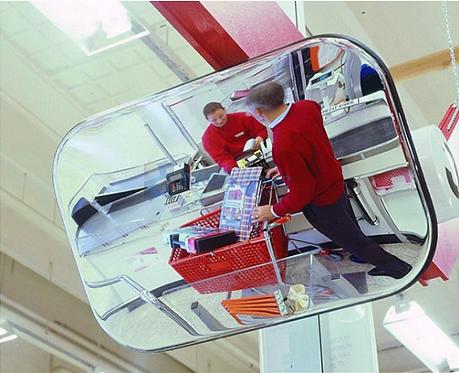 Зеркало обзорное для помещений прямоугольное