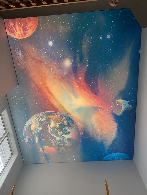 Galaxy double print. Night side