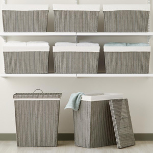 10 Things to Buy from The Container Store for a More Organized Home   Getting it Done Organizing   White Montauk Rectangular Baskets