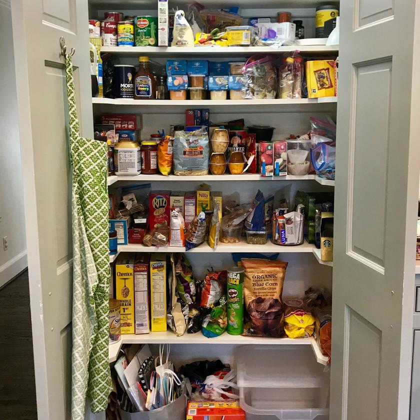 Organization Transformation, Kitchen Pantry Before