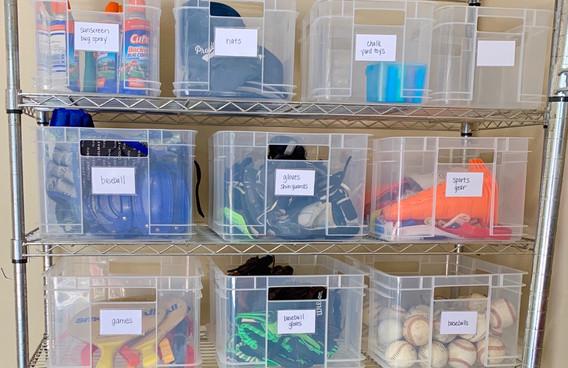 sports storage organzation