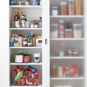10 Things to Buy from The Container Store for a More Organized Home   Getting it Done Organizing   Pantry bins