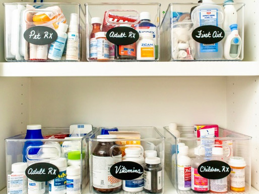 Top Tips for an Organized Medicine Cabinet