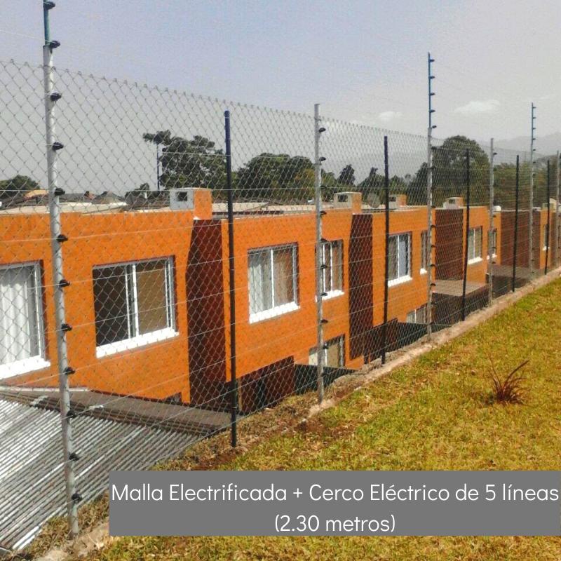 Malla Electrificada + Cerco Eléctrico de 5 líneas (2.30 mts)