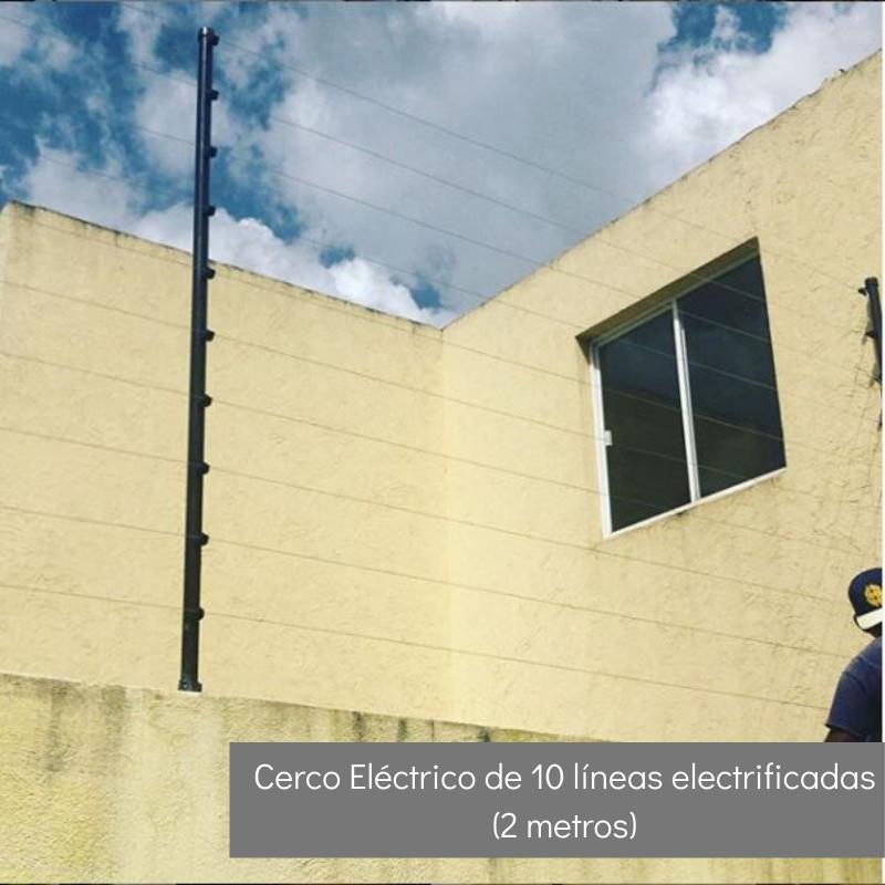 Cerco Eléctrico de 7 líneas electrificadas (2 mts)