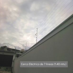 Cerco Eléctrico de 7 líneas (1.40 mts)