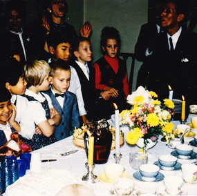 Dr. Suzuki's Bday 1966, me in the middle with crossed arms