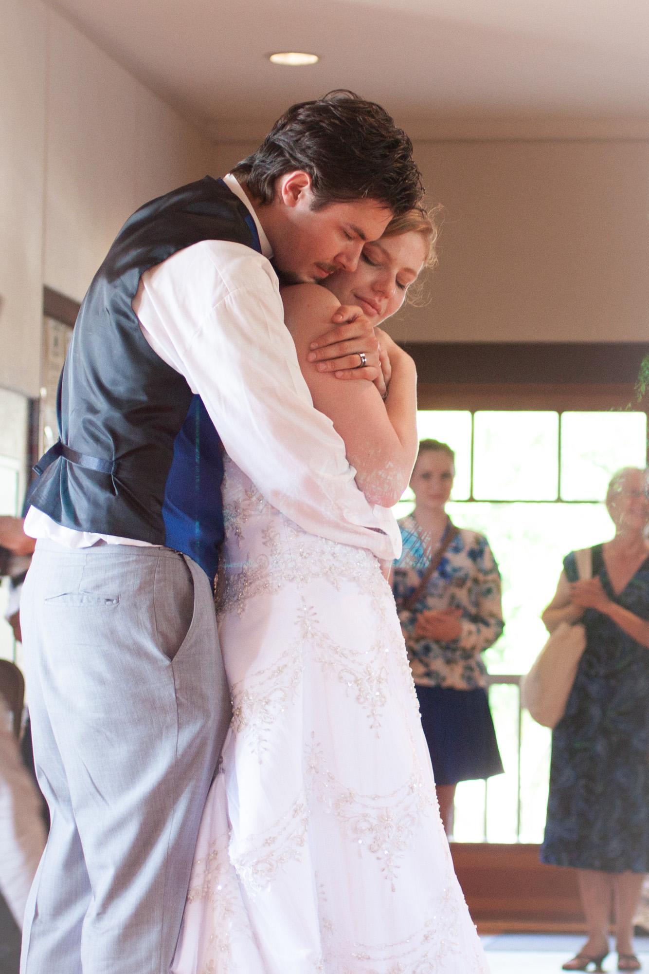 first dance romantic hug