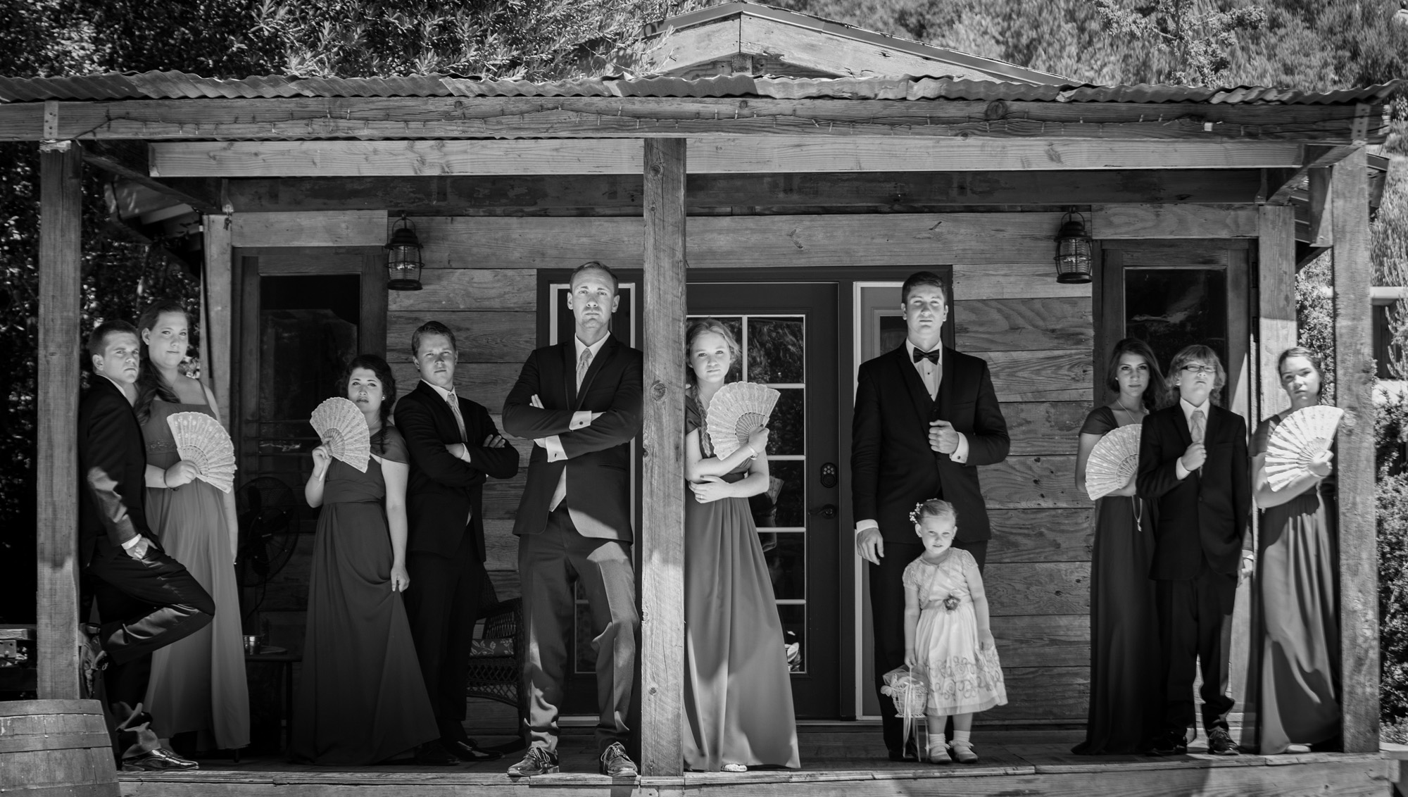 bridal party styled portrait
