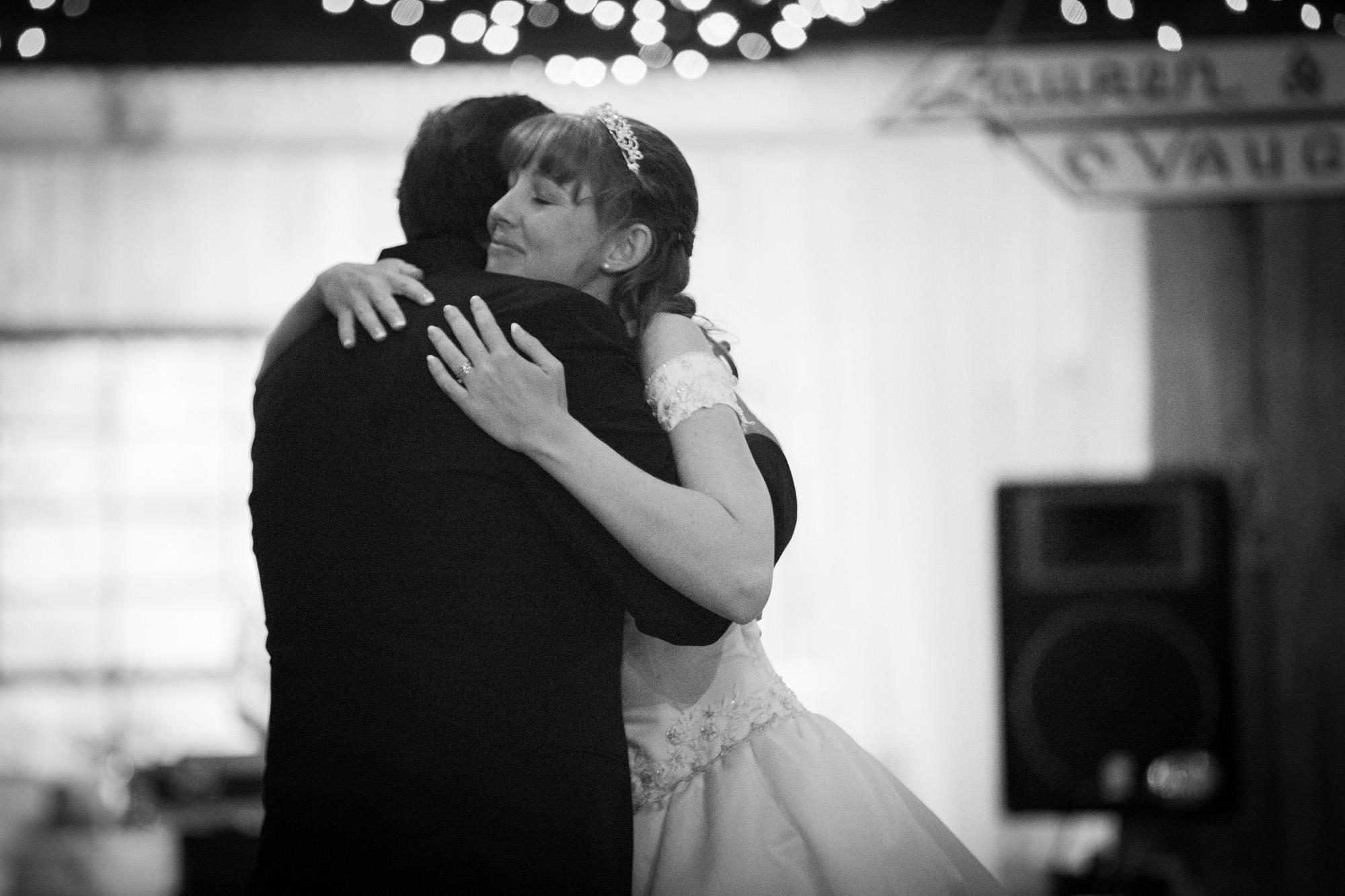 Father daughter dance hug