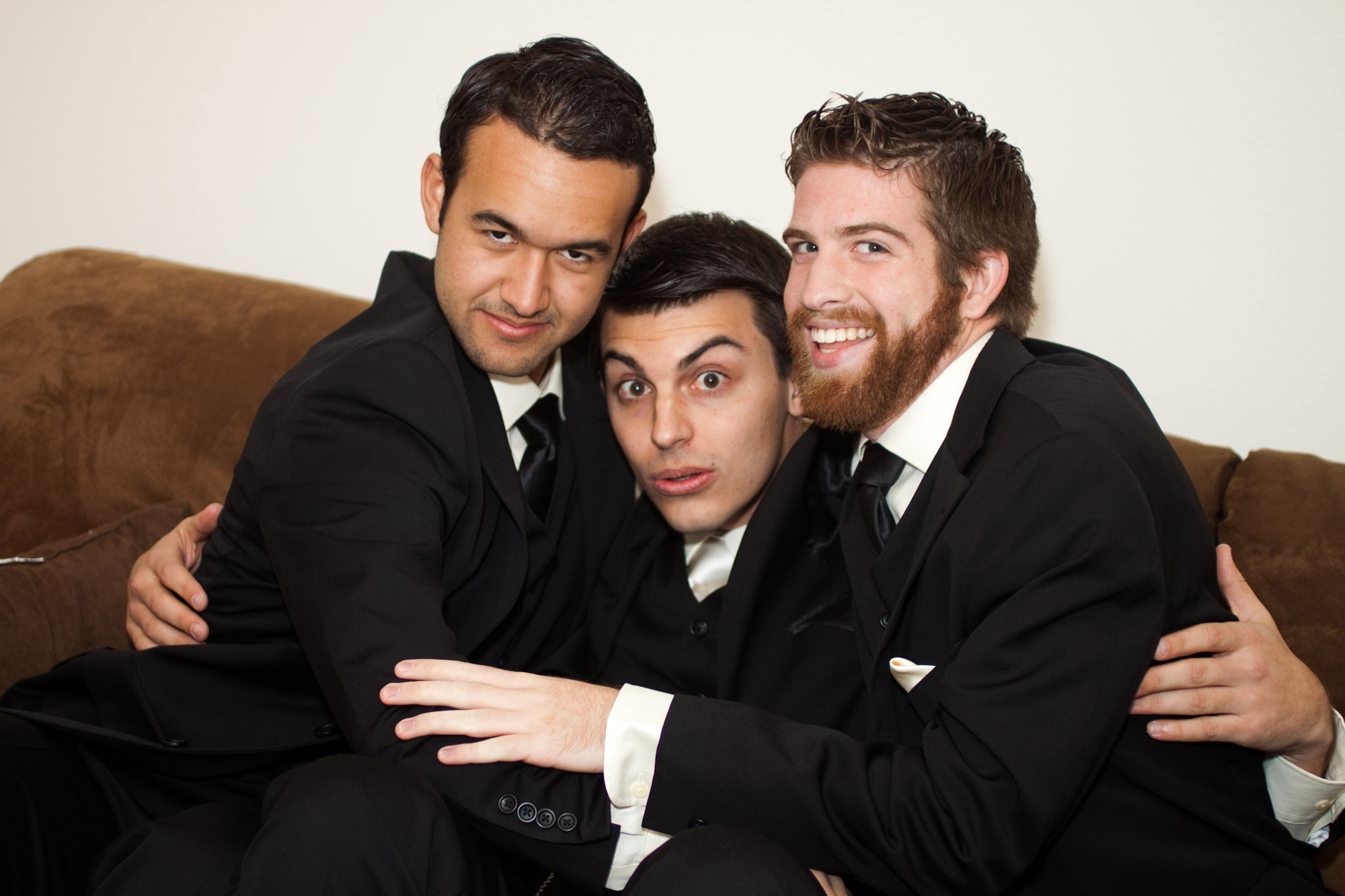 Groomsmen silly photo