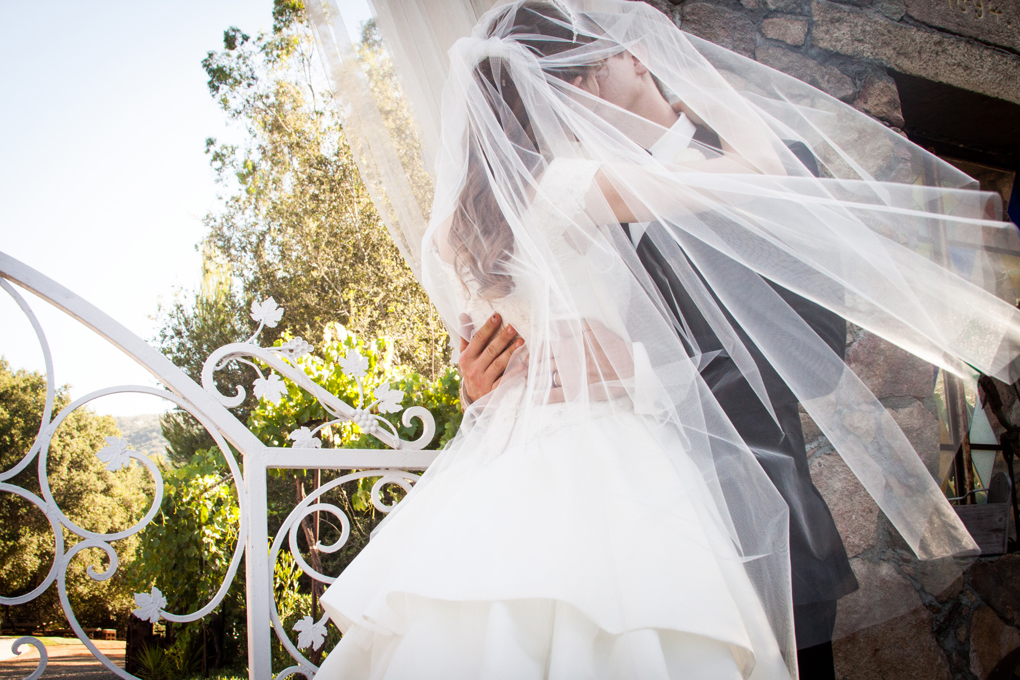 kiss under the veil