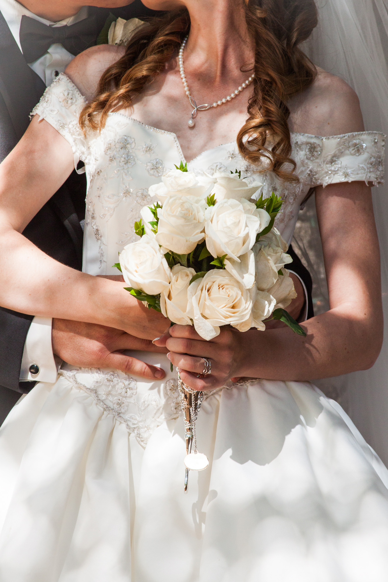 romantic bridal bouquet | white rose