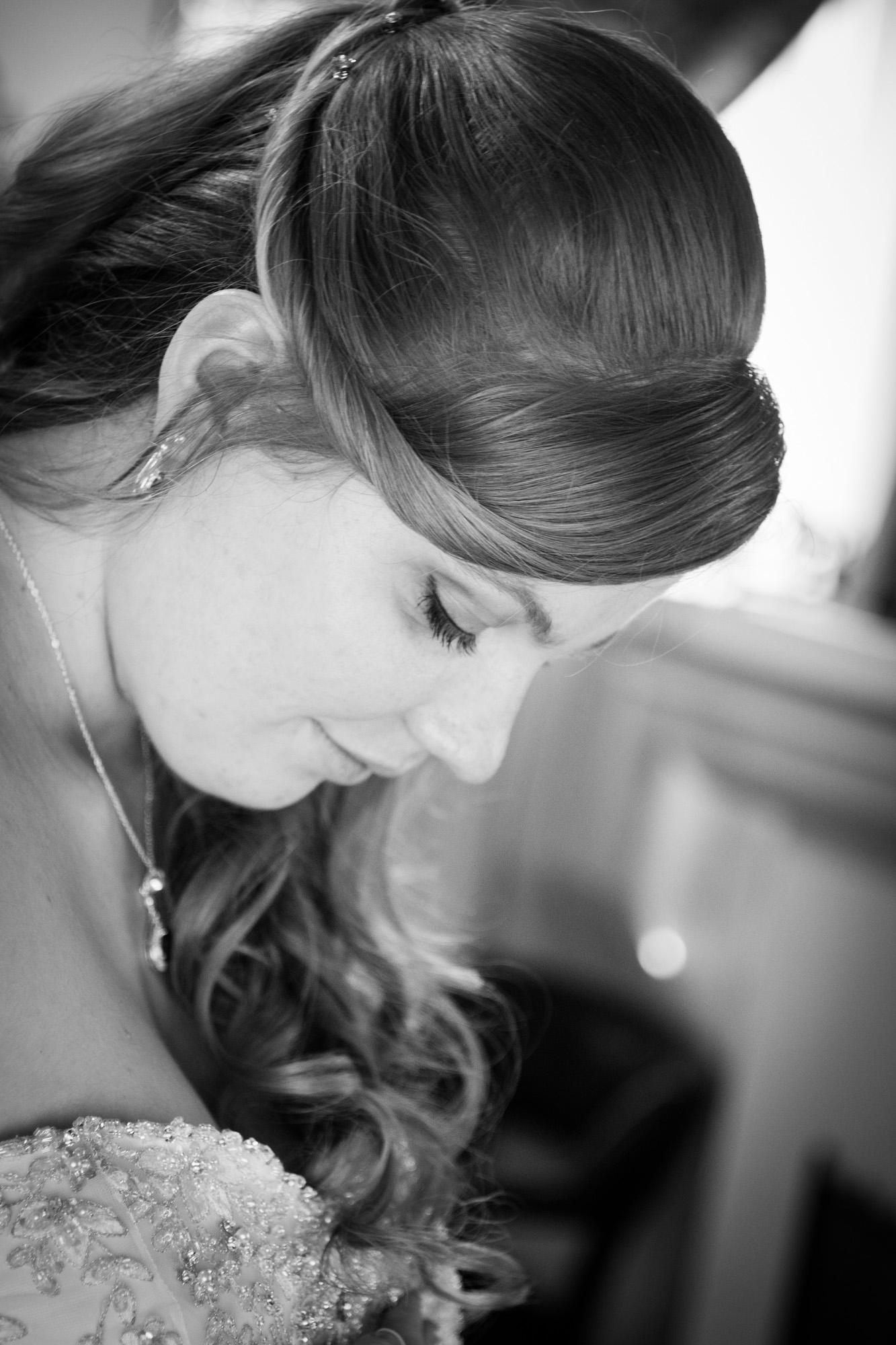 Beautiful bride detail