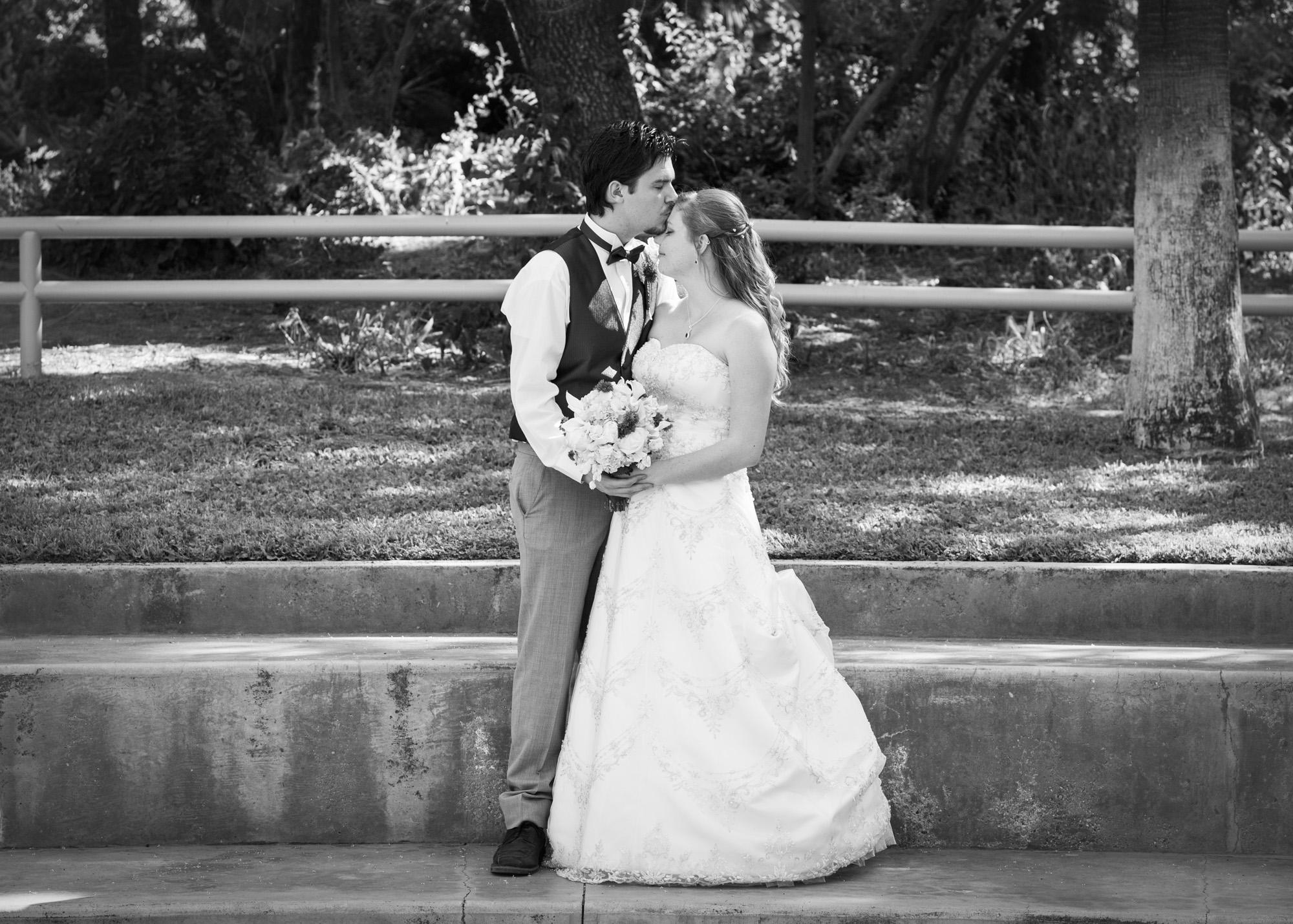 black and white newlyweds