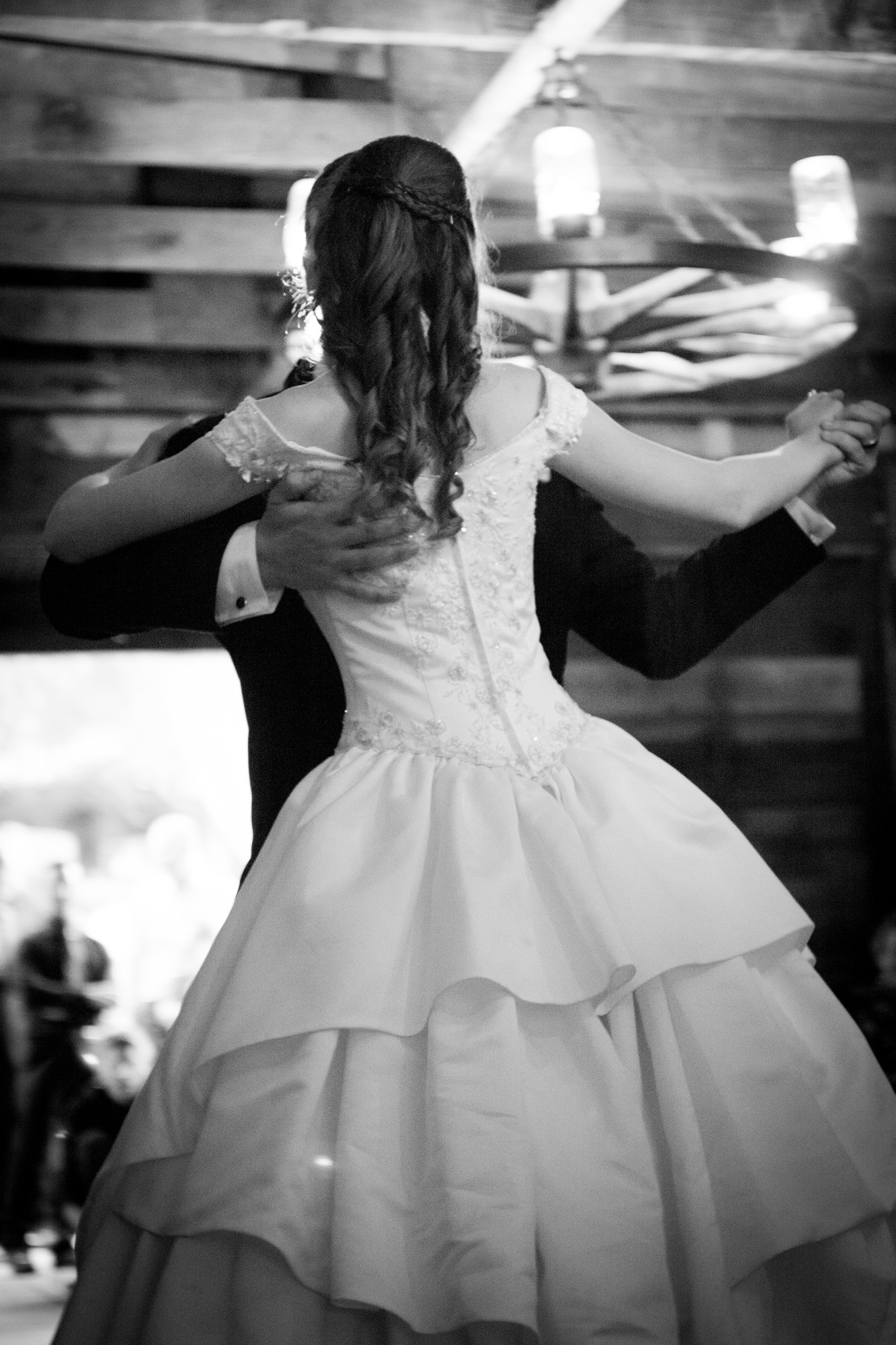 first dance black and white