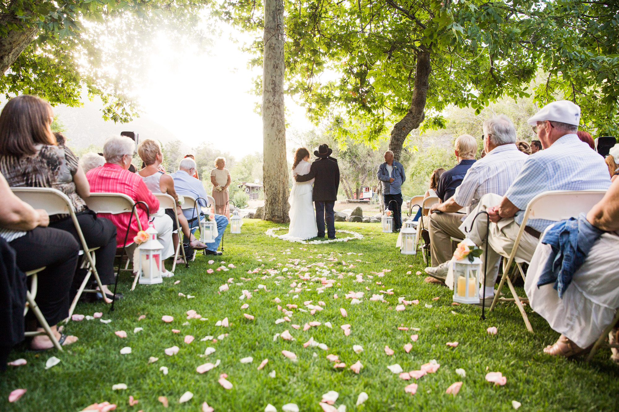 outdoor rustic tree ceremony