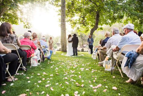 Rustic outdoor wedding vows