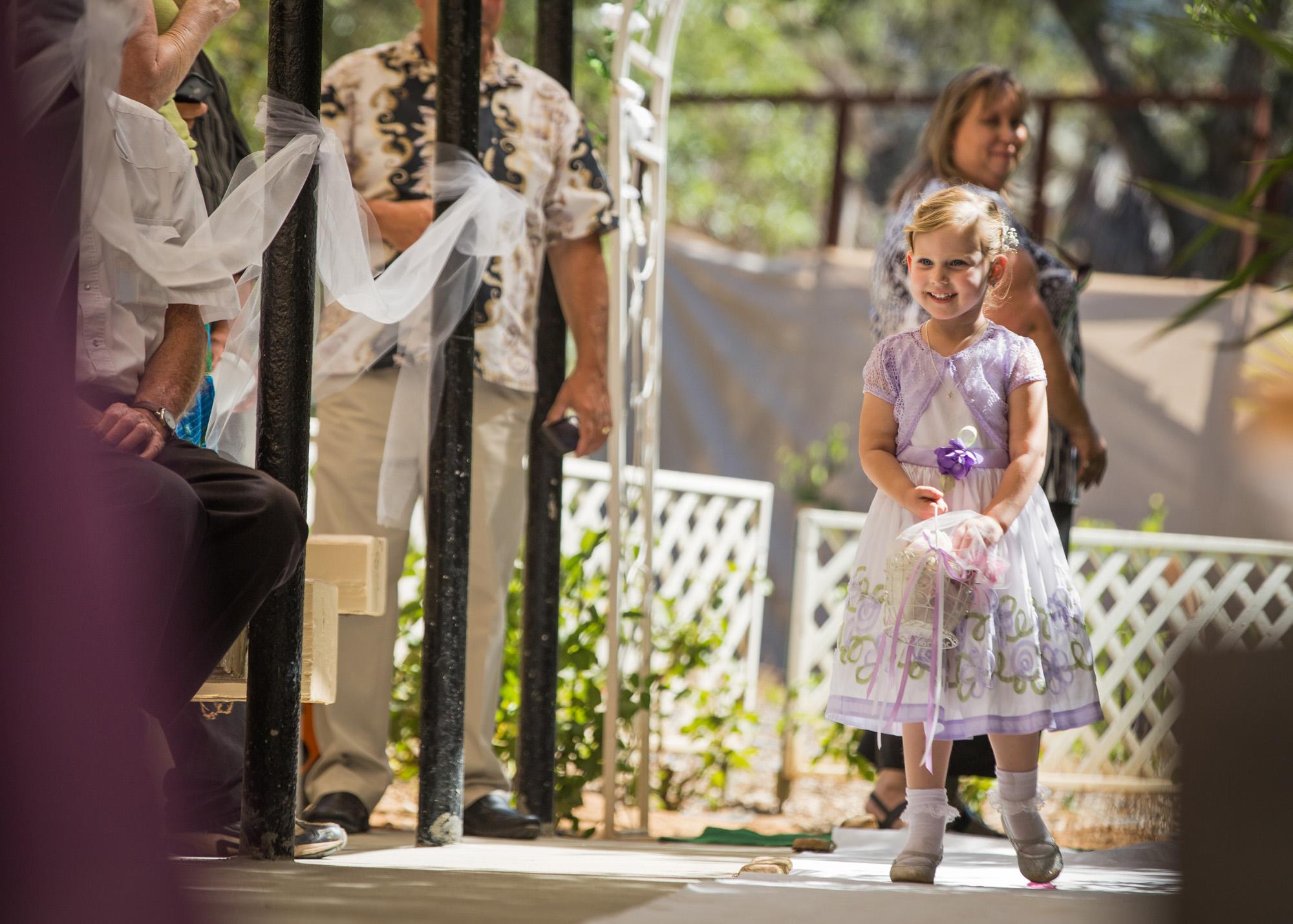 flower girl, lavender dress