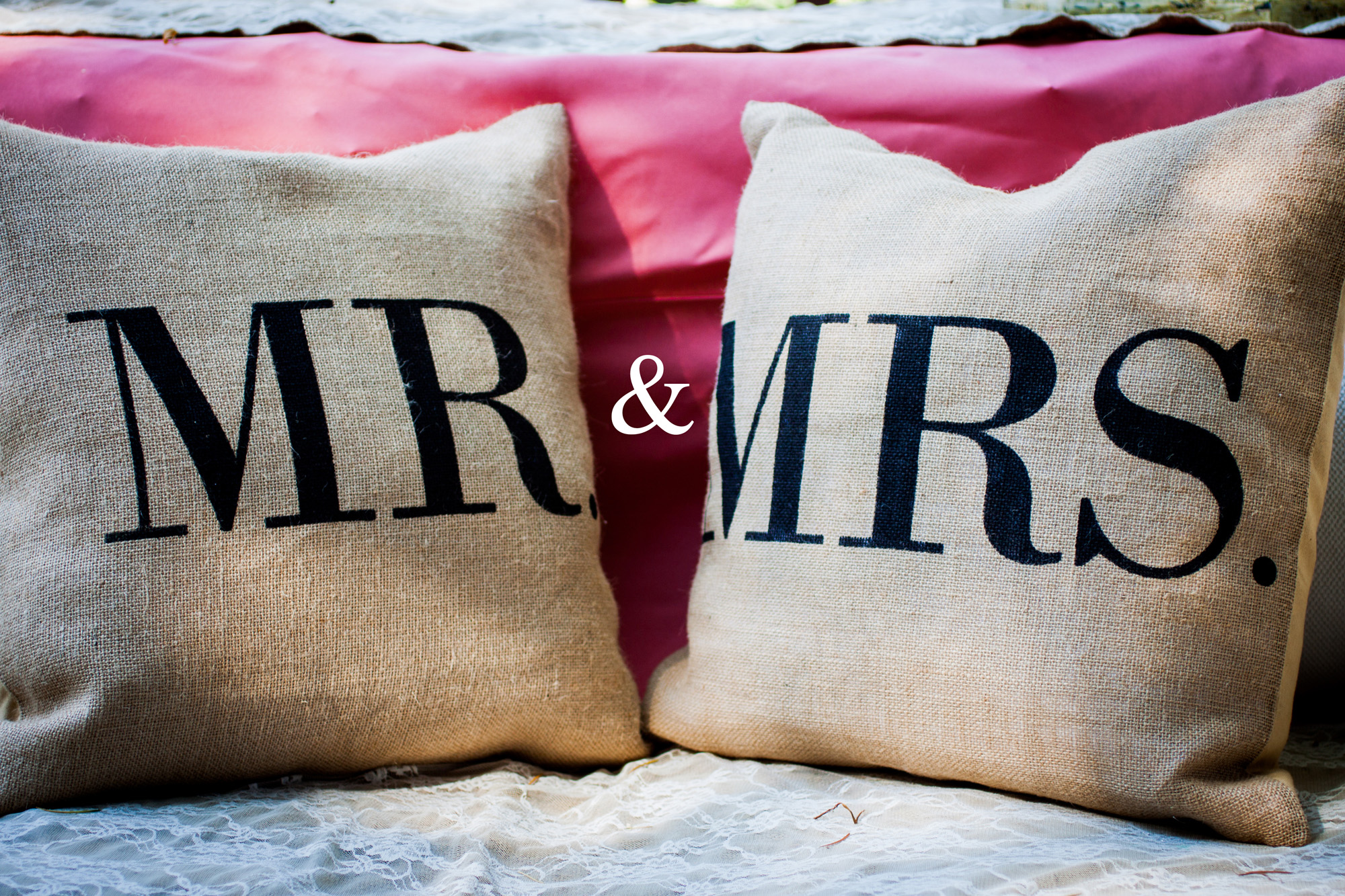 Mr and Mrs pillows decor
