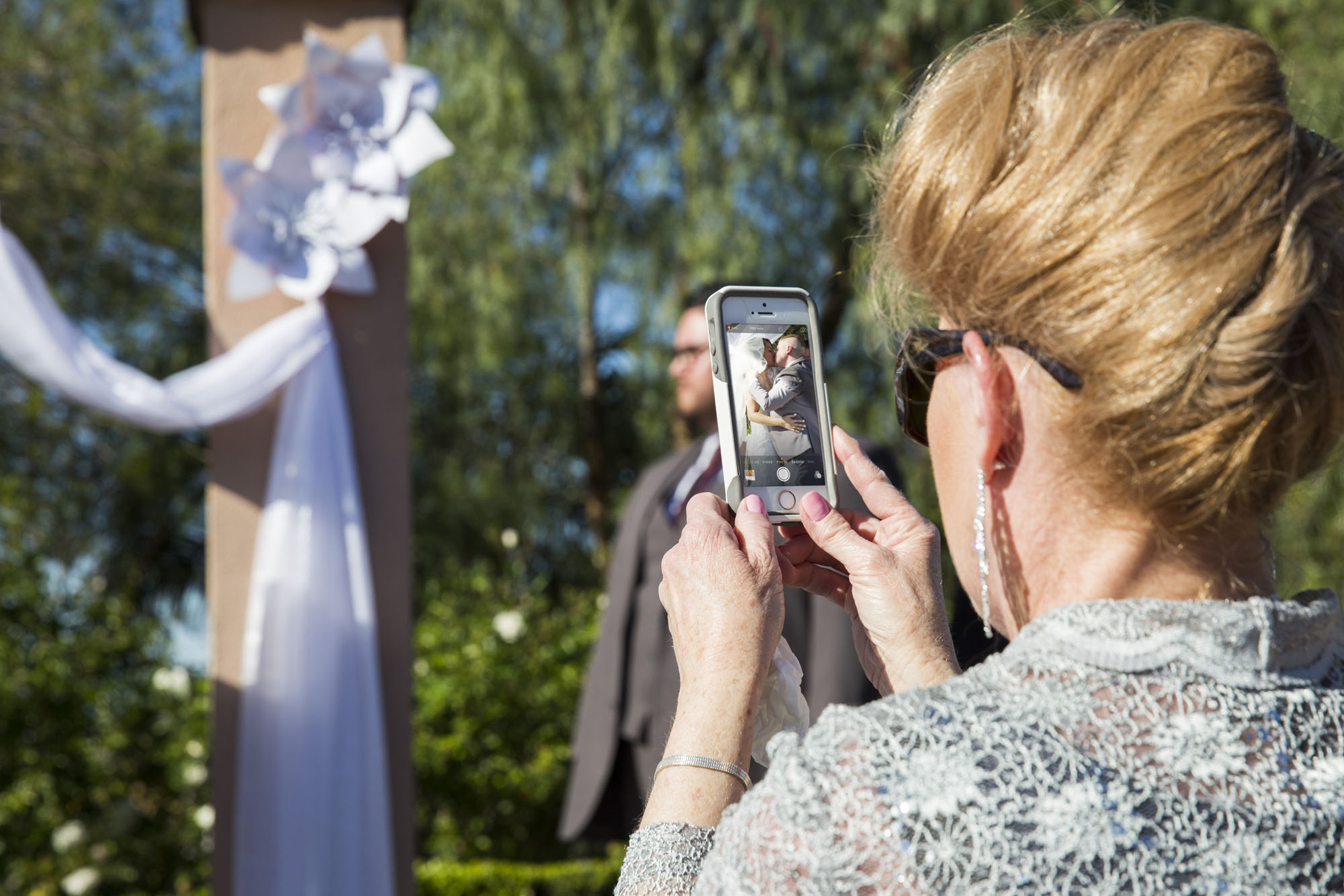 Capturing the moment on cell phone