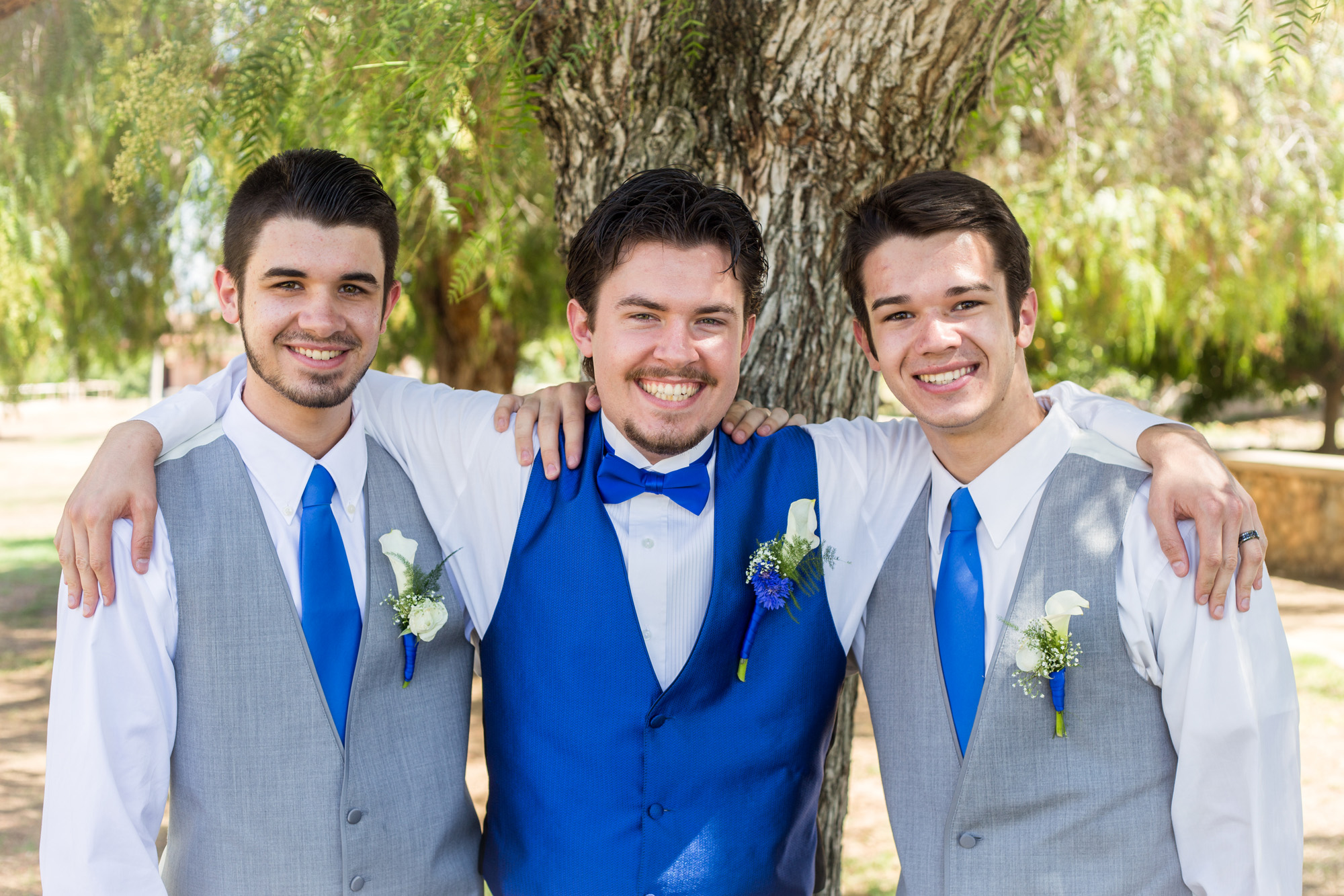 Groom and brothers