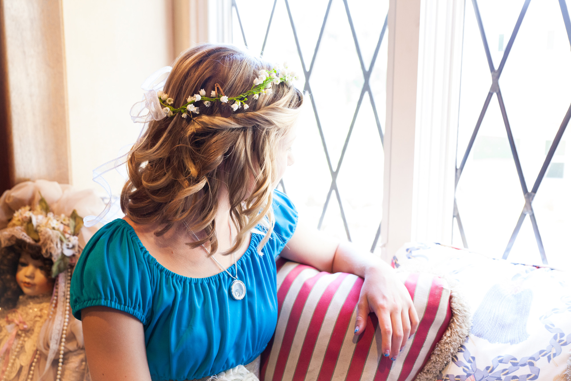 flower girl floral headpiece