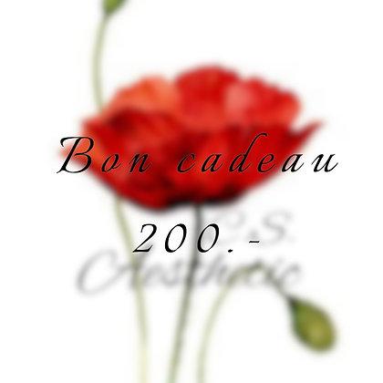 Bon cadeau 200.-