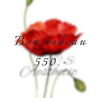 Bon cadeau 550.-