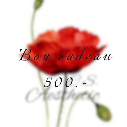 Bon cadeau 500.-