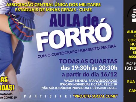 Aula de Forró com o Coreógrafo Humberto Pereira