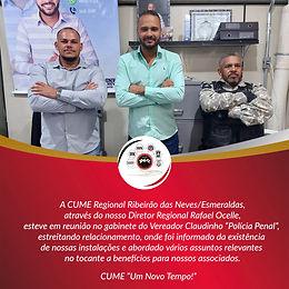 CUME Regional Ribeirão das Neves/Esmeraldas, se reúne no Gabinete do Vereador Claudinho