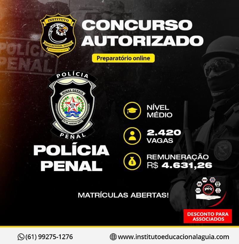 Curso Preparatório Policia Penal MG
